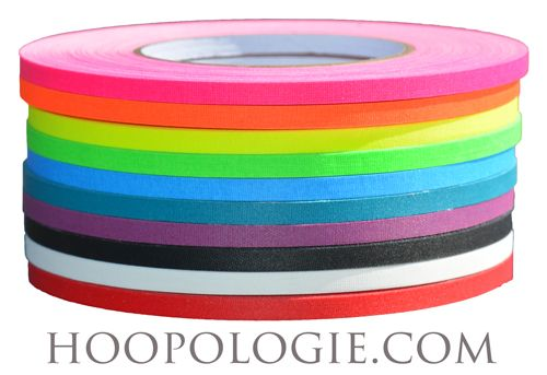 Natural Polypro or HDPE Hoop with either Gaffer OR Decorative Tape